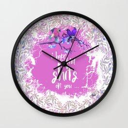 I HOPE A BIRD SHITS ON YOU Wall Clock