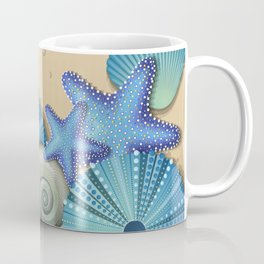 SEA SHELLS ON THE BEACH Coffee Mug
