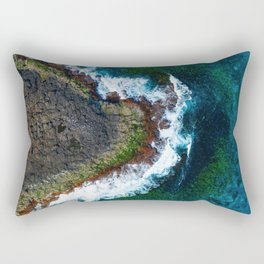 Waves and Rocks of Belowla Island Rectangular Pillow