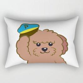 Poodle Police Rectangular Pillow