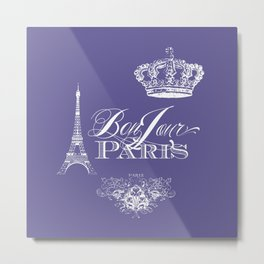 Purple Paris Metal Print