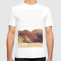 Oregon Painted Hills White Mens Fitted Tee MEDIUM