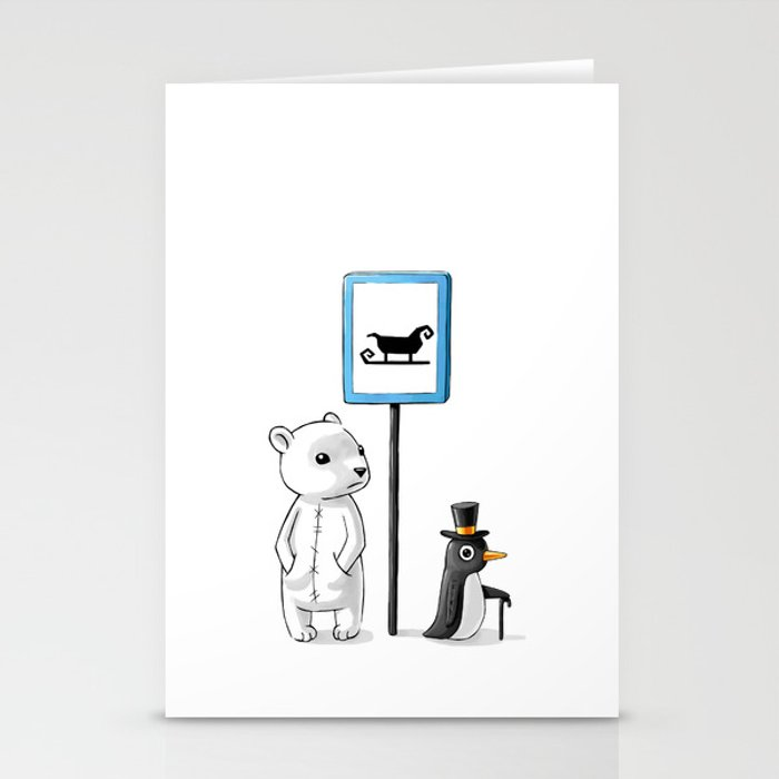 School Stop Stationery Cards