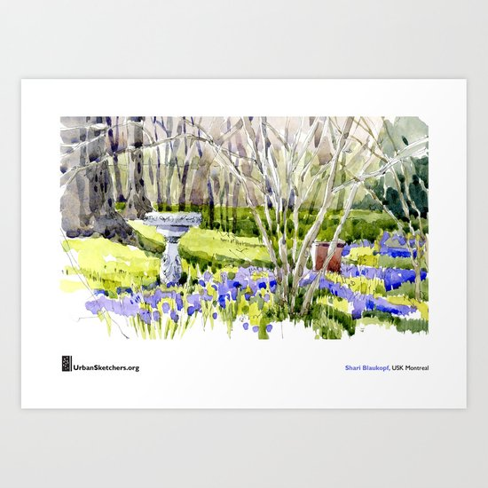 "Shari Blaukopf, ""Blue Lawn"" Art Print"