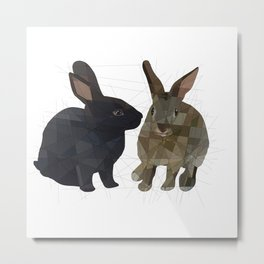 Rabbits Metal Print