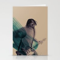 dave grohl Stationery Cards featuring Dave Grohl by Daniel Cisneros