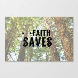 JESUS SAVES, Faith saves Canvas Print