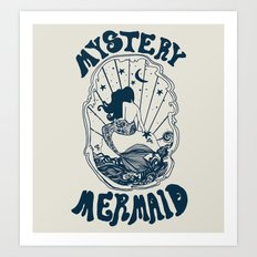 MYSTERY MERMAID Art Print