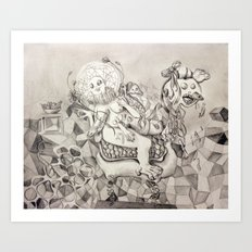 Momento mori. Art Print