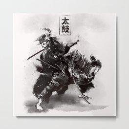 Taiko - Dance of the swords Metal Print