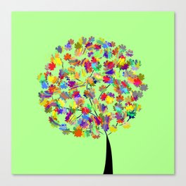 Tree of colors Canvas Print