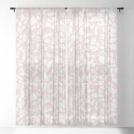 Terrazzo Spot 2 Blush Sheer Curtain