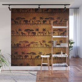 African Animal Pattern Wall Mural