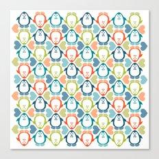 NGWINI - penguin love pattern 5 Canvas Print