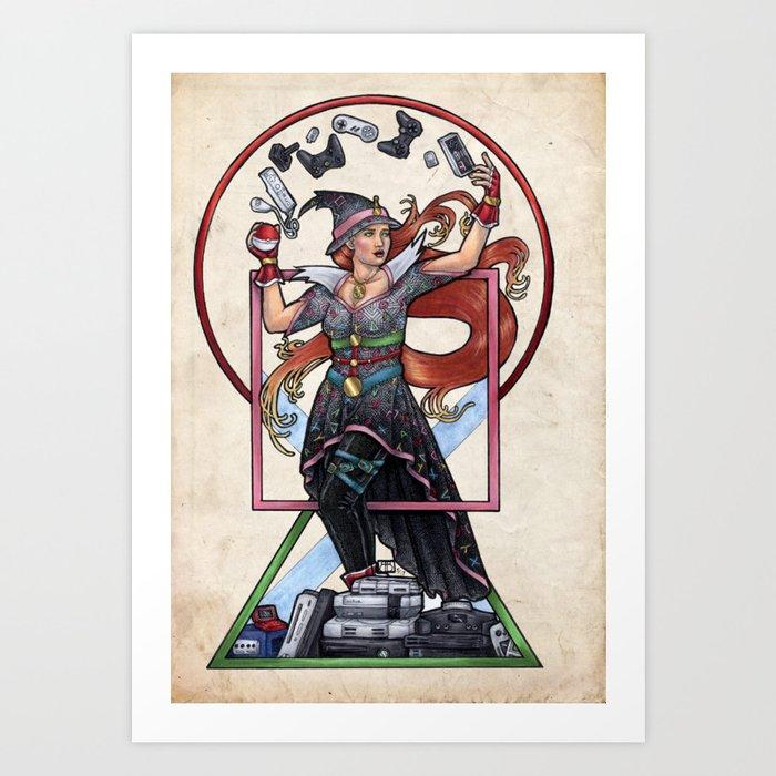 QT Witch by Bobbie Berendson W Art Print