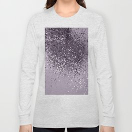 Sparkling Lavender Lady Glitter #2 #shiny #decor #art #society6 Long Sleeve T-shirt