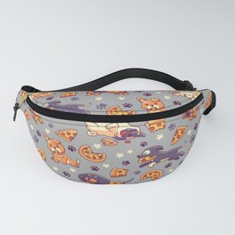 Pupperoni Pizza - Cute Puppy Dogs with Fast Food Fanny Pack