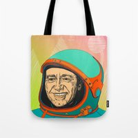 kevin russ Tote Bags featuring Kevin Spacey by IvaDim