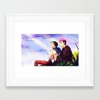 markiplier Framed Art Prints featuring Markiplier and Jacksepticeye - Dreamers by Draw With Rydi
