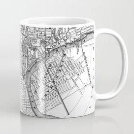 Vintage Map of Newark NJ (1872) BW Coffee Mug