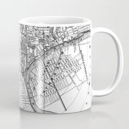 Vintage Map of Newark NJ (1872) BW Coffee Mug
