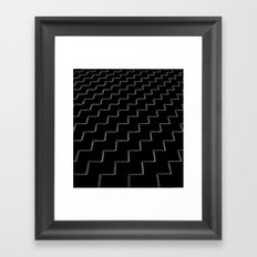 ZigZags Dark Framed Art Print