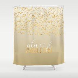 Gold Confetti Ombre Sparkle Shower Curtain