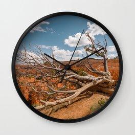 Dying Tree at Bryce Canyon National Park Wall Clock