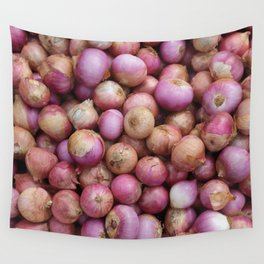 Food Illustration Onions Wall Tapestry