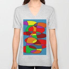Abstract #22 Unisex V-Neck