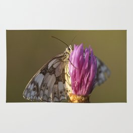 MARBLED WHITE BUTTERFLY Rug