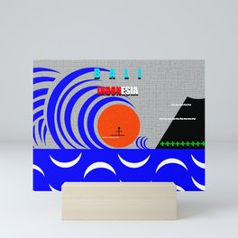 Bali Indonesia surfing design A Mini Art Print