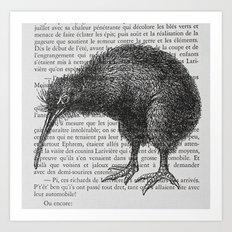 Curious Kiwi Art Print