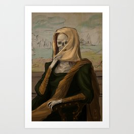 Death like Smile Art Print
