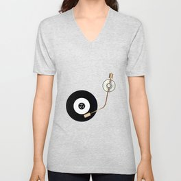 Record And Arm Unisex V-Neck