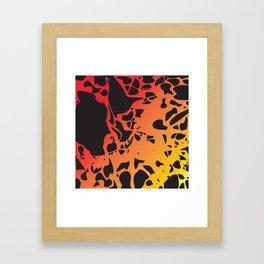 lava volcano Framed Art Print