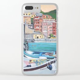 Vernazza Harbor Clear iPhone Case