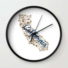 Berkeley University California Landmark State - Blue and Gold University Design Wall Clock