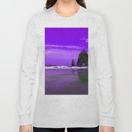 Oregon Coast Abstract Long Sleeve T-shirt