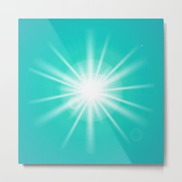 turquoise and light effect Metal Print