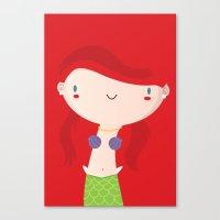 ariel Canvas Prints featuring Ariel by Maria Jose Da Luz