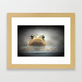Frog from Front Painting Style Framed Art Print