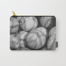 Baseballs in Black and White Carry-All Pouch