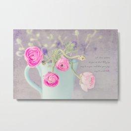 Ranunculus Cup Metal Print