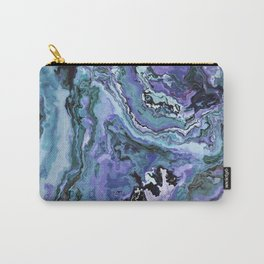 Blue gray marble Carry-All Pouch
