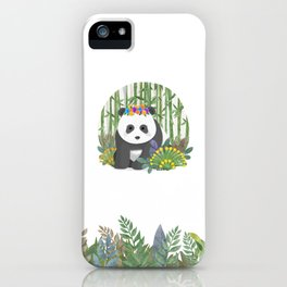 Panda in the forest iPhone Case