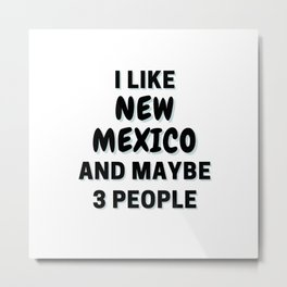 I Like New Mexico And Maybe 3 People Metal Print