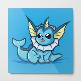 Level 5 Vaporeon Metal Print