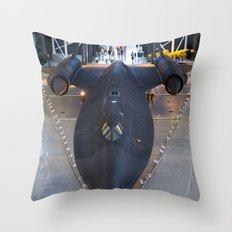 Sr71-Blackbird at the Dulles Air & Space Museum Throw Pillow