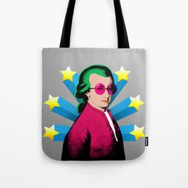 Wolfgang Amadeus Mozart Rock Superstar Tote Bag
